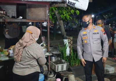 Jalankan Permendagri Terkait PPKM Level IV, Polres Klaten Lakukan Patroli Gabungan